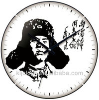 Vintage Wall Clock WH-6777 Design Art Lei Feng Picture