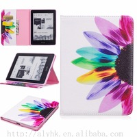 High Quality Beautiful Printed Patterns Flip PU Leather Wallet Cover Case For Amazon Kindle eBook Reader