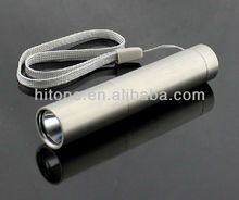 Top quality stainless steel CREE Q5 C2 3W 300Lm Rechargeable fixed Zoom LED Flashlight