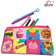 Fancy promotion stationery full color pen bag fruit food emoji printing soft EVA pencil case
