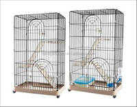 Cat Luxury 3-floor Wire Plastic Cage