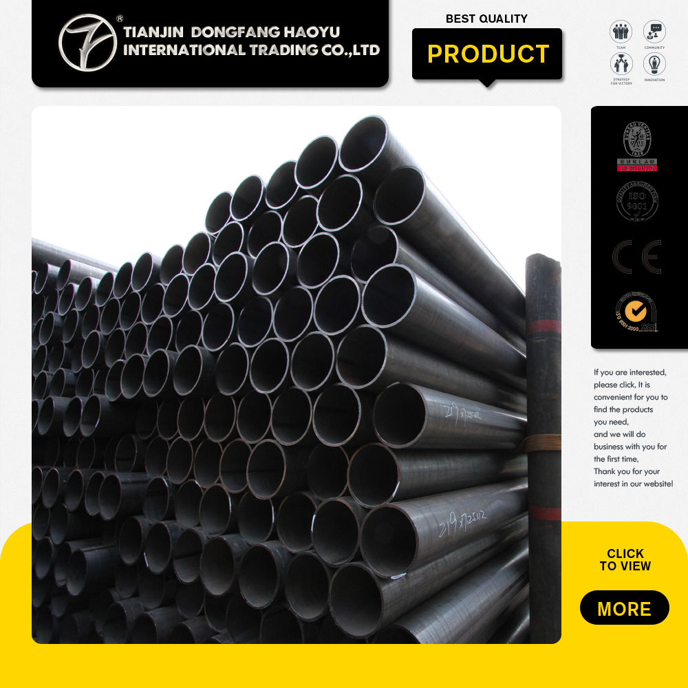 Oil And Gas Steel Tube For Pipeline Carbon Black Welded Steel Pipe