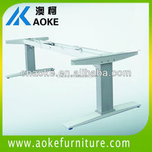 white color electric standing workcenter/workstation