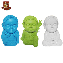 Cute monk buddha statue resin piggy bank saving cash coin money box