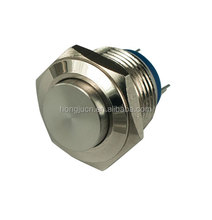 Momentary Push Button Horn Switch for Doorbell/Boat/Car Waterproof Metal 16mm switch