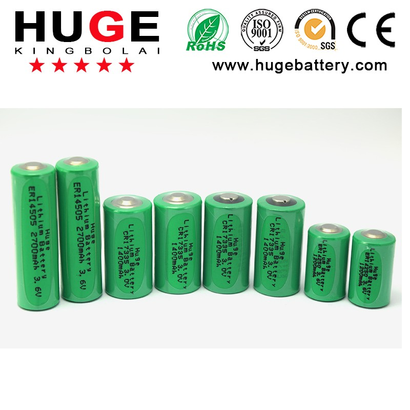 Hot Sale and factory price 3.6V ER14505 AA lithium thionyl cloride battery