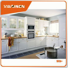 Advanced Germany machines factory directly customized pvc beech hotel wood kitchen furniture