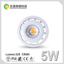 95Ra spotlight adjustable beam angle lamp 30-80deg spotlight--Laluna COB GU10 5w dimmable 2700K