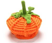 Halloween crochet pumpkin newborn baby knitted hats funny party hats