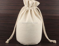 Factory directly cheap supply nature eco-friendly cotton fabric cloth drawstring bag