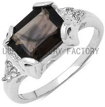 simple style rings with square shaped white cubic zirconia jewelry