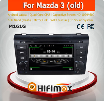 HIFIMAX Android 4.4.4 car dvd player for Mazda 3 WITH Capacitive screen 1080P 8G ROM WIFI 3G INTERNET DVR