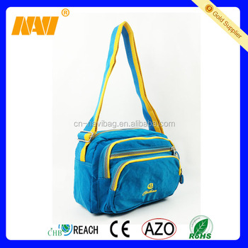 chinese factory produce blue casual cross body shoulder bag