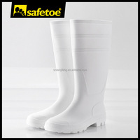 White PVC gum boots, PVC boots without steel, food industry boots W-6036