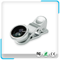 Universal 4in1 Clip Lens Kit:180Degree Fisheye+0.65X Wide-angle+Macro+CPL Lens For Mobilephones/Tablets