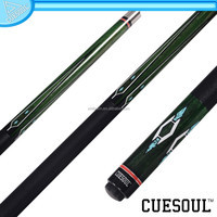 CUESOUL Hot Best Selling Maple Shaft Quick Release 1/2 pool Cue,Stainless Steel,Rubber Wrap