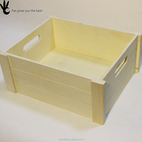 No lid Arrangement Toy Tool Make up Wooden Desktop Storage box