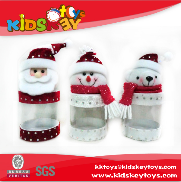 2016 New wholesale christmas gift boxes Santa Claus, snowmen, bears toy christmas candy box