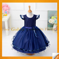 GBJY-593 2017 Hot Sales Latest Cotton Frock Design Dresses For Baby Girls Elegant Frock Cutting Long Wedding Girls Frock