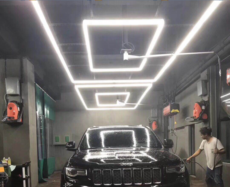 ZT2058 auto care products 340W Width 20mm car wash station LED light use for Auto 4S and repair shop PC cover