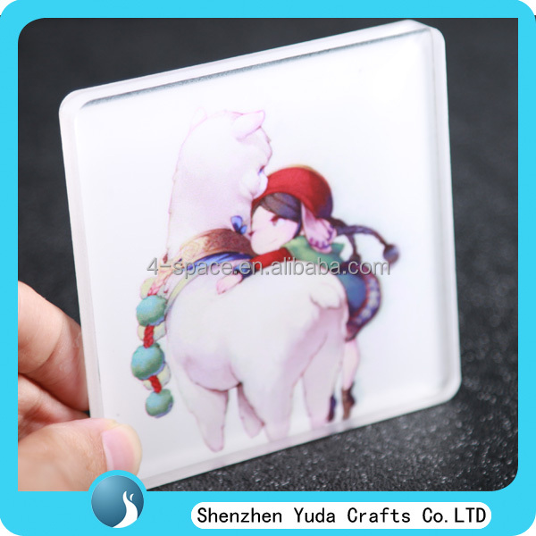 Luxury Custom Painting Cup Mat Acrylic Polished Crystal coaster