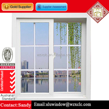 Double glzed sliding aluminum window with grill design