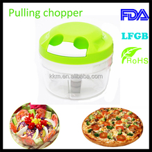 FDA LFGB RoHs Mini Garlic Chopper, chopping cutter potato slicer, Twist Cut Manual Food Processor