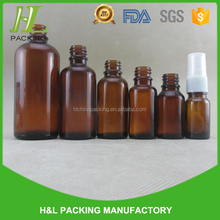 30ml 100ml amber glass cosmetic bottle and packaging