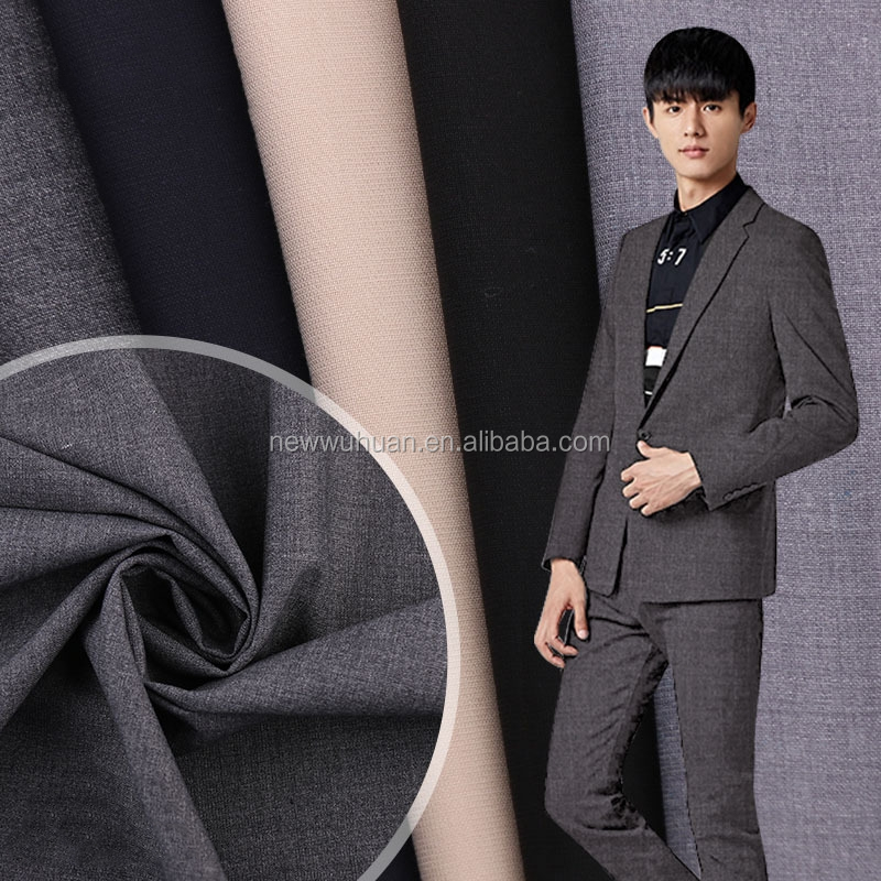 Indonesia suits for men formal wear polyester viscose tr suiting fabric