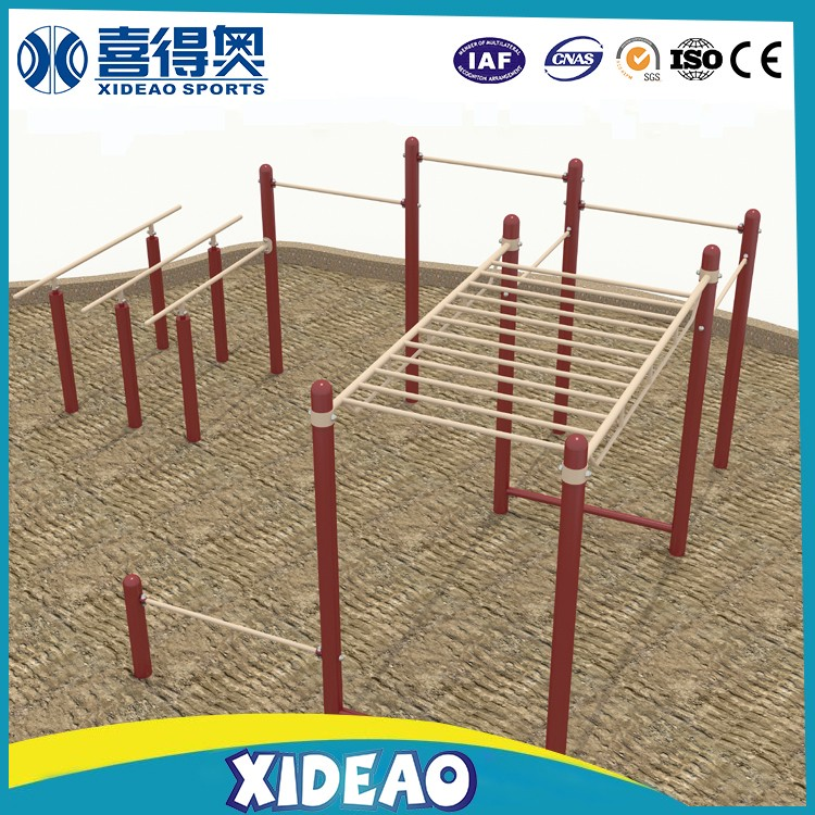 wood fitness equipment xideao parallel bars public park
