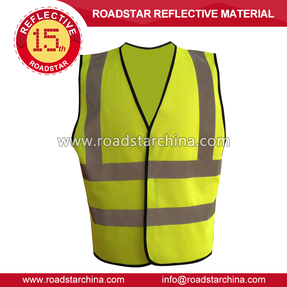 reflective vest yellow or red EN 20471 reflective running vest for outdoor sports