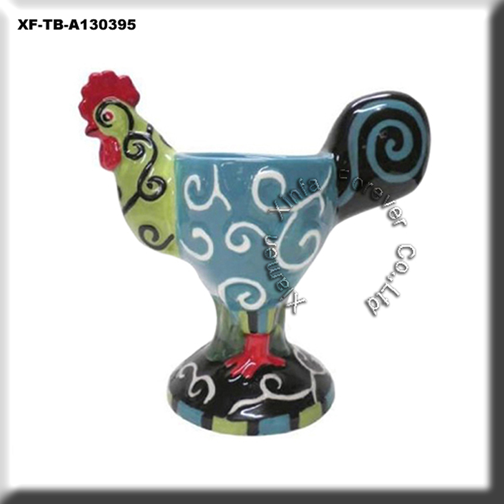unpainted wholesale ceramic rooster egg cup