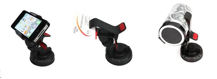 2014 Hot selling portable Micro Suction universal lazy bed car phone mount holder for Smart Phone