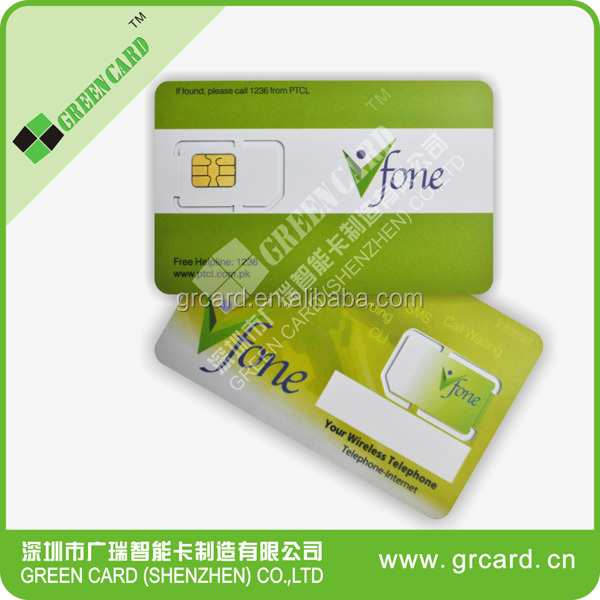 GSM SIM Card Printing GSM Blank Card Programmable SIM Card Mobile Phone SIM Cards with Customized Printing