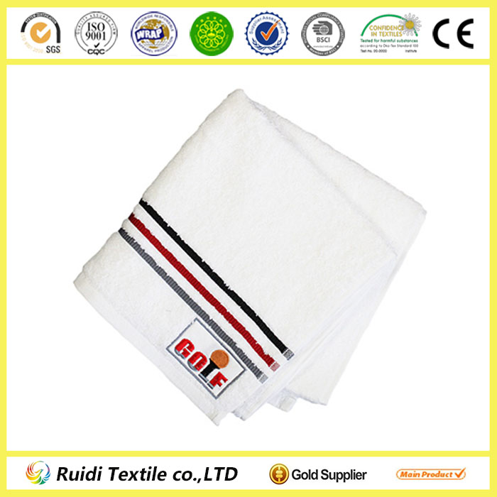 Golf Embroidery 100% Cotton Hand Towel