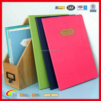 Korean Style Lovely Leather Portfolio, Best Selling Leather File Leather Document Folder for Customized