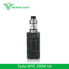 2ps 18650 cell Teslacigs e health cigarette Tesla WYE 200W TC Kit with 5.0ml H8 atomizer