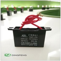 CBB61 1uf 450V/250VAC fan/motor starting capacitor 2 wires