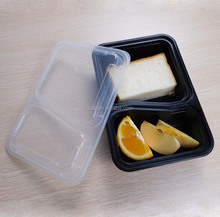 wholesale 1000ml / 34oz 2 compartments plastic insulated moving meal prep food warmer container / box supplier