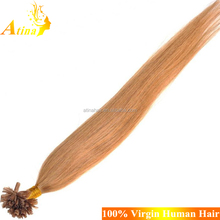 Wholesale Single Drawn 100% Cheap Remy Straight Human Hair U Tip In Hair Extensions