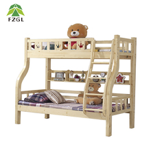 Solid wood school dormitory bunk bedroom furniture dormitory strong double bed