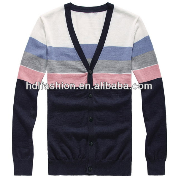 Latest new fashion cardigan mens sweaters picture