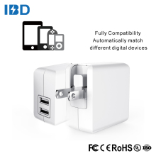 IBD Car charger adapter 5v/4.8a output dual usb wall charger ul certified 110v to 220v adapter
