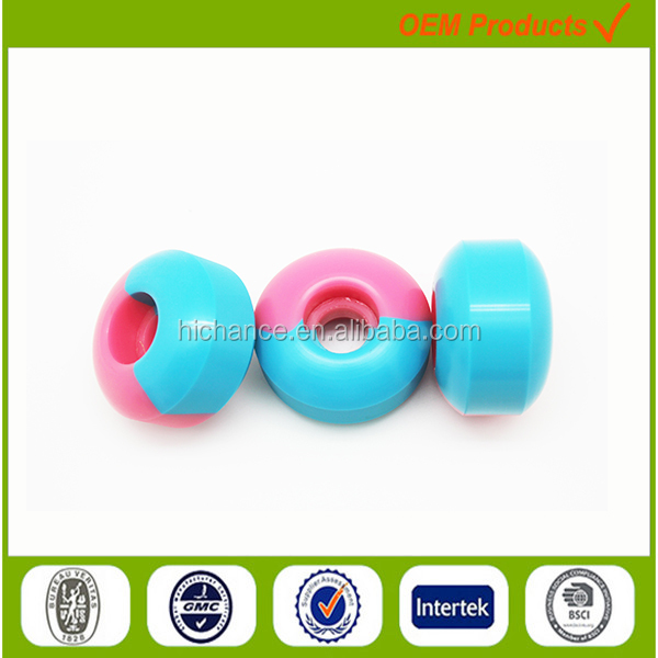 PU half Tone Color electric surfboard motorized skateboard wheels