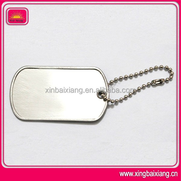 stainless steel aluminum blank polish military dog tag