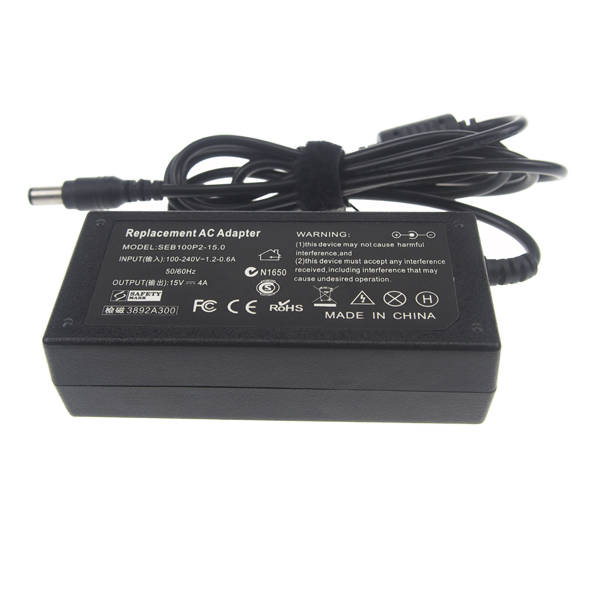 Wholesale ac Laptop Charger adapter for Laptop For NEC 60W 15V 4A With 6.3*3.0 mm Connector