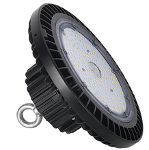 ETL DLC CE ROHS Listed ufo high bay light 150w 347v 480v 200-480v 130lm/<strong>w</strong> 60/90/120 degree led high bay