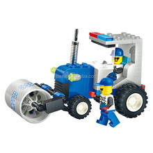 WANGE Toy Factory Formative Road Roller truck car plastic building blocks