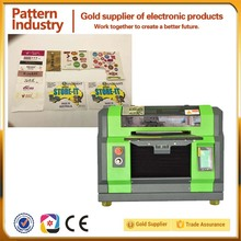 Second hand sticker label 3d uv flatbed printing machine with high quality