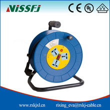 R&D design factory supply 20/30m small retractable cable reel extension cable reel retractable cable reel